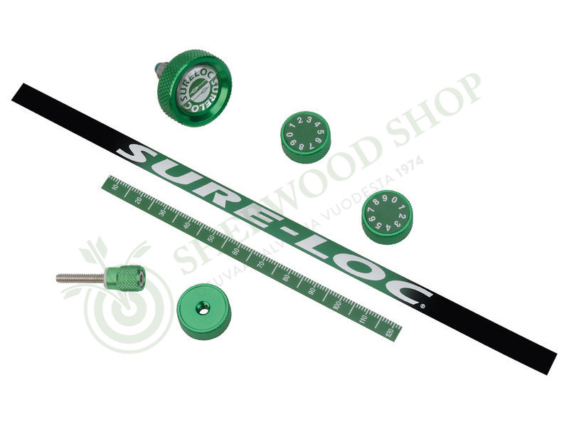 Sure-Loc Custom Knob/ Decal Kit Green - Scopet ja tarvikkeet - 100730-1048 - 3